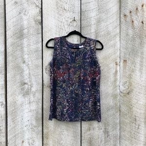 Cabi | abstract tank top with keyhole